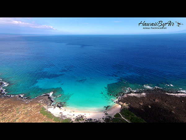 Aerial drone photography of Kua Bay on the Big Island of Hawaii Wedding Drone Real Estate