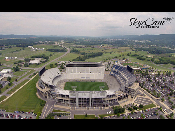Aerial photo of Penn State University's Beaver Stadium