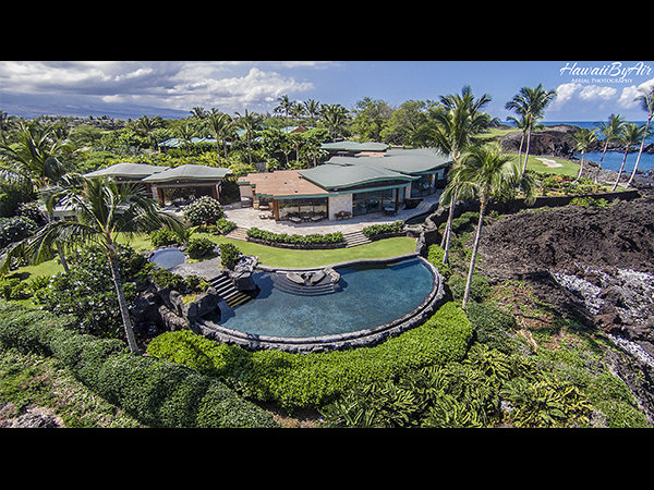 Real estate aerial drone photograph at the Mauna Lani